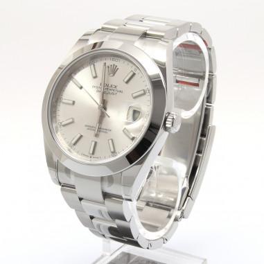 Rolex Datejust 41 Silber Index