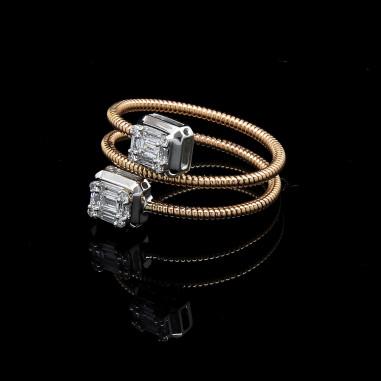 Single Invisible Diamond Ring